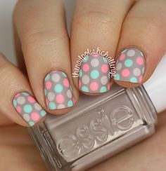 31 Day Nail Art Challenge, Day 8: Polka Dot Nail Art | The Nail Polish Challenge | Bloglovin'