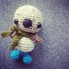 Free pattern for Blue Footed Booby Amigurumi
