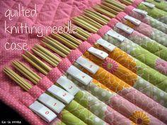 Quilted needle case | kai ta hetera (Carole Tremblay, Tricot)