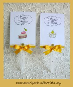 """""""Sunflowers"""" candies cards"""