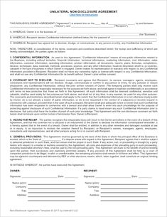 Download A Free Non Disclosure Agreement (NDA) Or Confidentiality Agreement  Template For Microsoft