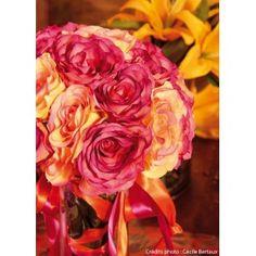 Rose Clarice Rose En Tissu Diamètre 9 cm