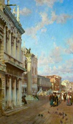 By the Lion of St Mark, Venice by William Logsdail