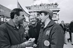 Clark with Colin Chapman and Jackie Stewart