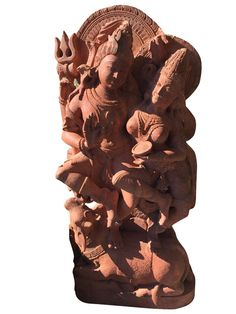 Hindu Yoga Statue Shiv and Parvati Garden Stone Sculpture Stone Garden Statues, Garden Stones, Indian Garden, Hindu Statues, Stone Sculpture, Stone Art, Hand Carved, Carving, Antiques