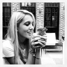 Maria Olympia of Greece with a baby bunny, September 2012