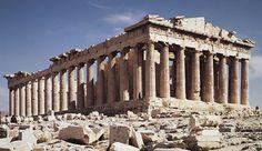 Parthenon (Temple of Athena Parthenos; view from the northwest), Acropolis, Athens, Greece