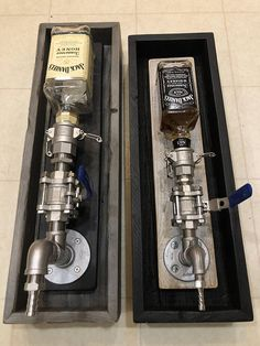 "Stainless Steel Liquor Dispenser Valve Assembly Offered fully assembled, In 3 different sizes Large: 1"" fittings, top fitting 1-1/4""- Fits 1.75L LARGE Liquor bottles Medium: 3/4"" fittings, top fitting 1"" Fits 750 ml bottles Small: 1/2"" Fittings, top fitting 3/4"" Fits 375 ml small bottles"
