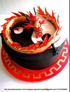 Yin Yang Dragon Cake