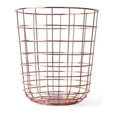 Menu Papierkorb Wire Bin kupfer NEU/OVP Stahl Rot