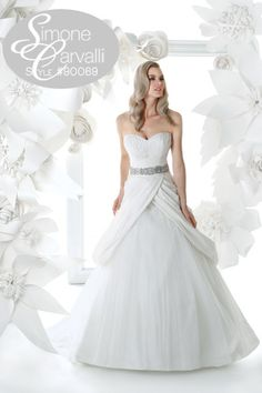 Simone Carvalli fall 2011 wedding gown, style #90069 #strapless #belt