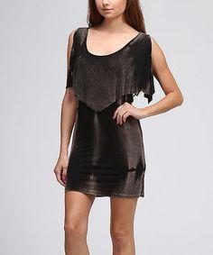 Look what I found on #zulily! Brown Tie-Dye Sleeveless Dress by Urban X #zulilyfinds
