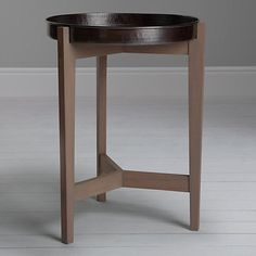 Buy John Lewis Flores Tray Top Bedside Table, Grey from our Bedside Cabinets & Tables range at John Lewis & Partners. Garden Side Table, Copper Accessories, Copper Tray, Bedside Cabinet, Interior Plants, Decorating Tips, Charcoal, New Homes, John Lewis