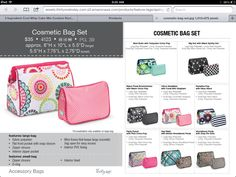 Thirty-One Spring 2014- Cosmetic bag set