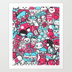 Ultimate Cute Art Print by Christian San Jose - $15.00