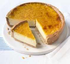Custard tart with nutmeg pastry. There's something so honest about a custard tart, simply topped with a grating of nutmeg.