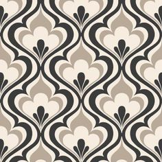 Brewster Home Fashions Simple Space II Lola Ogee Bargello x Damask Embossed Wallpaper Color: Black Embossed Wallpaper, Damask Wallpaper, Wallpaper Samples, Wall Wallpaper, Cream Wallpaper, Decoupage Vintage, Palacio Bargello, Beacon House, Beacon Hill