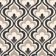 Beacon House 56 sq. ft. Lola Black Ogee Bargello Wallpaper-2535-20602 - The Home Depot