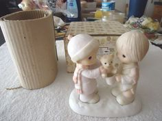 """Vintage 1983 Precious Moments """" Christmastime Is For Sharing"""