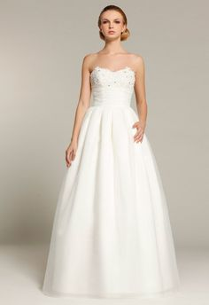 A Line Sweetheart Beading Crystal Detailing Wedding Dresses - Dolcedress.com