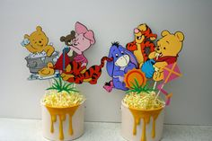 Baby Winnie the Pooh and friends centerpieces for a Baby Shower, birthday, party, gift