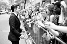 Image has been converted to black and.white.) Actor Matt Bomer attends the 68th Annual Tony Awards at Radio City Music Hall on June 8, 2014 ...