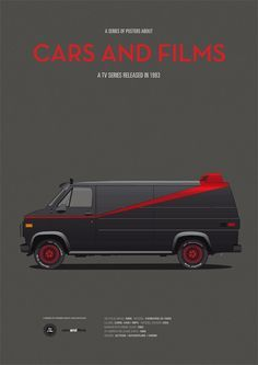 15 Minimalist Illustrations of Iconic Cars in Film