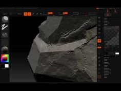ZBrush Tutorial | Sculpting a rocky surface. Sculpting a rocky surface with ZSpheres and the Planar brush