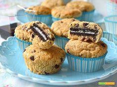 Muffin chocolate chip cookies ripieni di biscotto Oreo e aceto balsamico di Modena IGP  #ricette #food #recipes