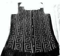 HOBİLERİM örgü dantel: Aralık 2011 Crochet Coat, Crochet Cardigan, Filet Crochet, Crochet Shoes Pattern, Shoe Pattern, Knitting Patterns, Crochet Patterns, Moda Emo, Ravelry