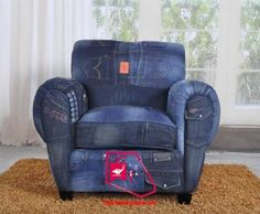 Blue jean chair....