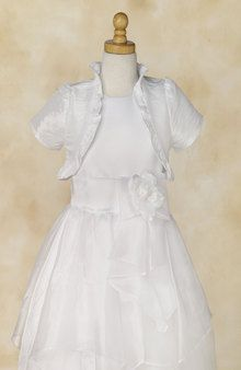 Girl's white bolero jacket. - White Elegance - Makers of LDS Temple Clothes, Temple Dresses, Pioneer Costumes and more