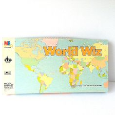 World Wiz World Map Skills Vintage 1979 Milton Bradley Complete Board Game  #MiltonBradley