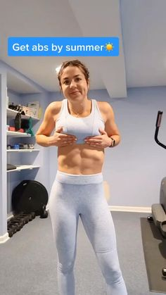 Gym Workout Videos, Gym Workout For Beginners, Abs Workout Routines, Butt Workout, At Home Workouts, Chest Workout Women, Fitness Workout For Women, Fitness Home, Fitness Transformation