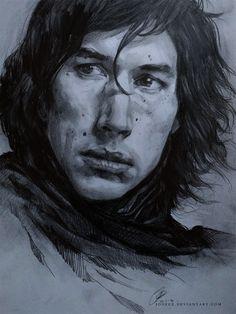 Kylo Ren - sketch by jodeee on DeviantArt