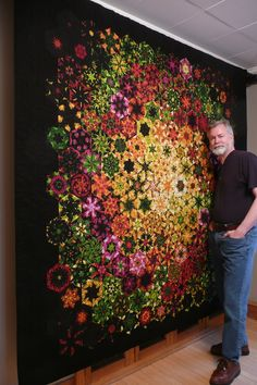 Bruce H. Seeds - of his wonderful One Block Wonder quilts. -- Another great one block wonder! One Block Wonder, Patchwork Quilting, Crazy Quilting, Quilting Projects, Quilting Designs, Quilting Ideas, Kaleidoscope Quilt, Theme Noel, Hexagon Quilt