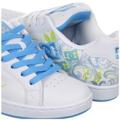 DC Shoes Women's Pixie Shoe  Great target to the feminine crowd. Good repetition of the logo and an appealing paisley design