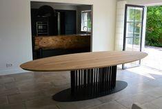 Modern Dinning Table, Dinning Table Design, Dining Room Table, Apartment Interior Design, Interior Styling, New Energy, Furniture Inspiration, Furniture Design, Home Decor