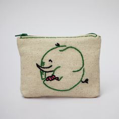 elephant coin purse -  hand embroidery on linen by NIARMENA on Etsy https://www.etsy.com/listing/238277787/elephant-coin-purse-hand-embroidery-on