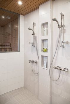 Five Simple Bathroom Decorating Ideas Bathroom Inspiration, Shower Niche, Bathrooms Remodel, Laundry In Bathroom, Bathroom Toilets, Bathroom Decor, Bathroom Design, Bathroom Remodel Master, Shower Room