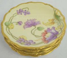 Beautiful Limoges snack plates