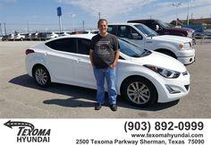 https://flic.kr/p/GUfEYC | Congratulations dusty on your #Hyundai #Elantra from Dustin Kile at Texoma Hyundai! | deliverymaxx.com/DealerReviews.aspx?DealerCode=L967