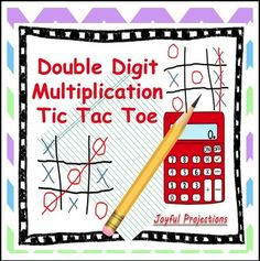 """FREE MATH LESSON - """"Double Digit Multiplication Tic Tac Toe"""" - Go to The Best of Teacher Entrepreneurs for this and hundreds of free lessons. 4th - 6th Grade #FreeLesson #Math http://www.thebestofteacherentrepreneurs.net/2015/08/free-math-lesson-double-digit.html"""