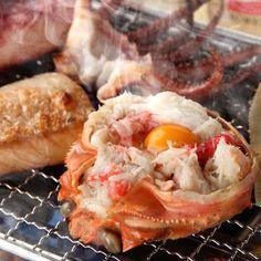 カニ味噌甲羅焼き : 勝丸水産 小山店 魚介センター