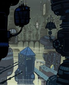Background painting Scott Wills for Samurai jack
