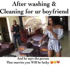When He Doesn't See A Wife Material In You. Lol Oh my word! Girls don suffer oo. When he doesn't see a wife material in you. He doesn't get the gist that all you need is marriage. That the reason you stay over, clean his house, wash his clothes and cook his favorite meals is be... #naijamusic #naija #naijafm