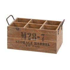 Features:  -Material: Wood.  -Blends both the passions for drink and decor.  -Crate suitable for your home bar.  Product Type: -Wine bottle rack.  Finish: -Brown.  Material: -Wood.  Mount Type: -Table