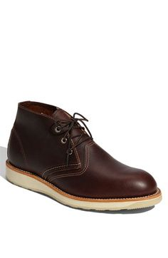 I swear i wish i were born a guy! I never like womens clothes. Red Wing 'Classic' Chukka Boot (Men) available at #Nordstrom