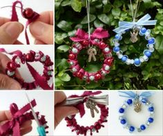 Ribbon Bead Christmas Decorations   The WHOot