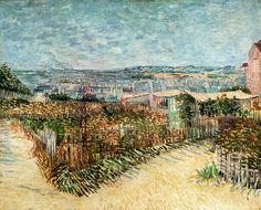 Vegetable Gardens in Montmartre, 1887. Vincent van Gogh ·
